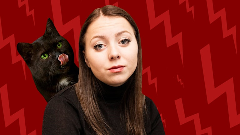Linda Ulfielm med katten Fittan