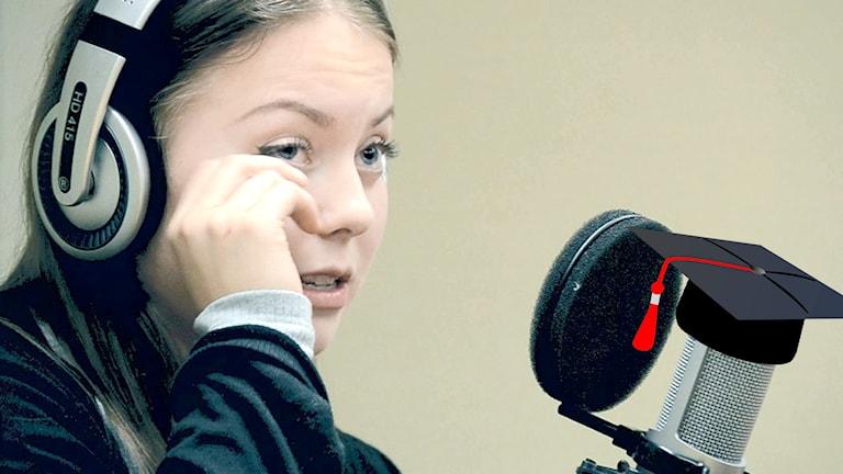 Linda Ulfielm busringer. Foto: Helena Andersson/Sveriges Radio