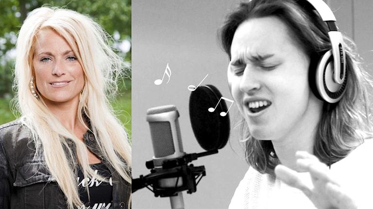 Busringning till Laila Bagge. Foto: Sveriges Radio