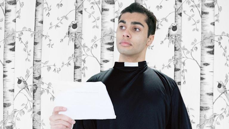William Spetz som präst.