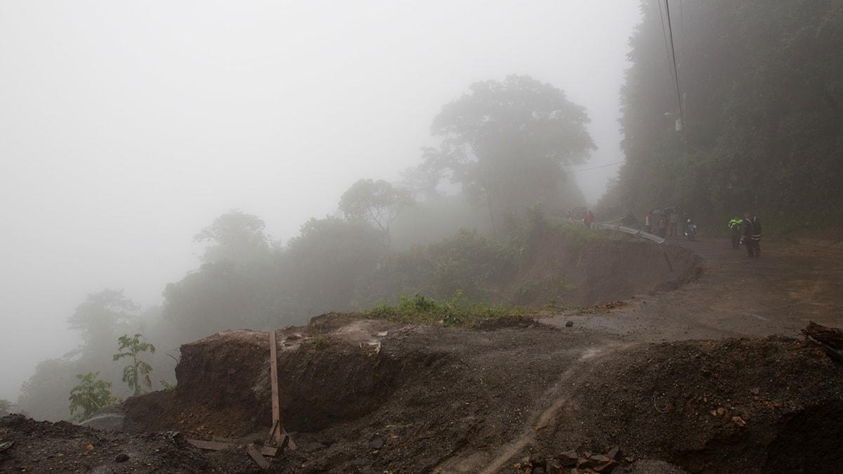 Regn i Costa Rica till följd av stormen Nate.