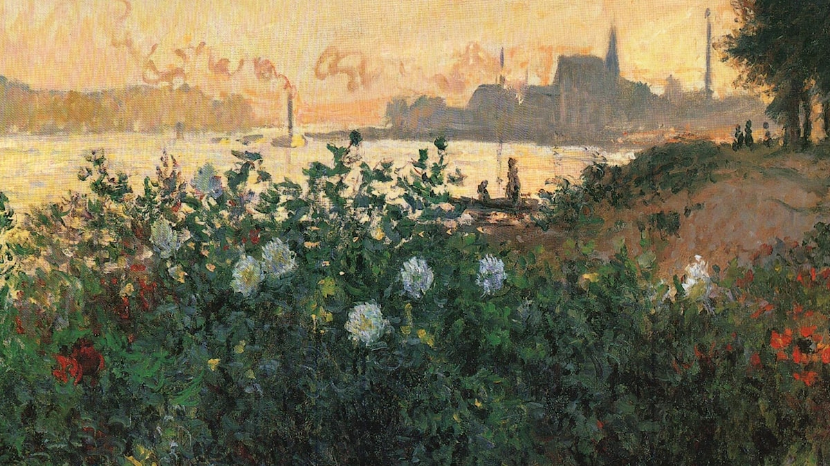 Flowered riverbank / Claude Monet