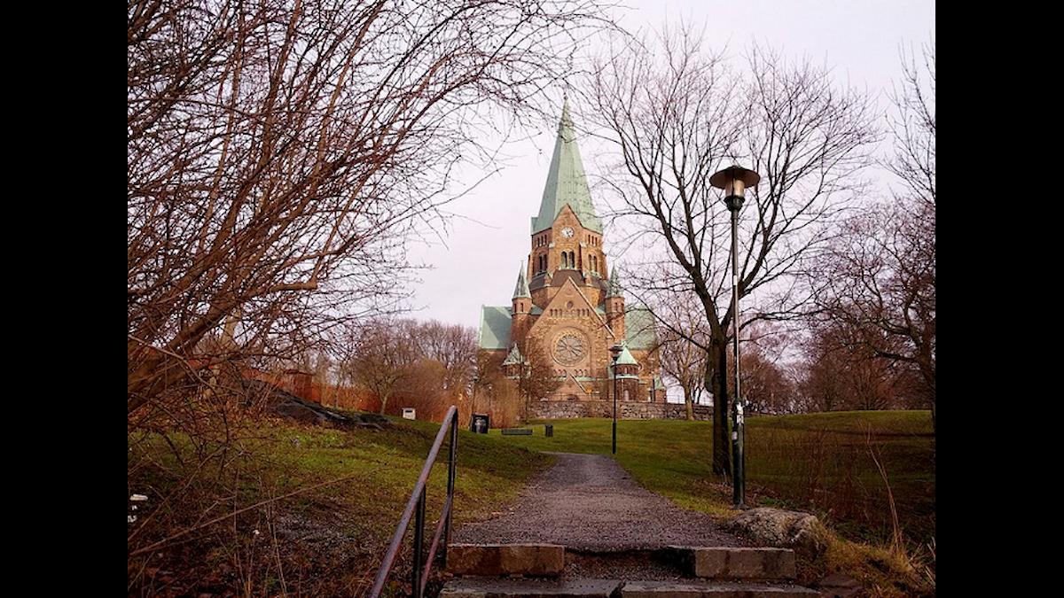 Vita bergen runt Sofia kyrka
