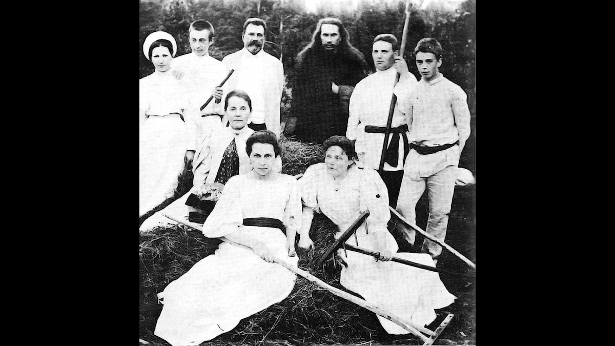 Rachmaninov med familj på godset Ivanovka