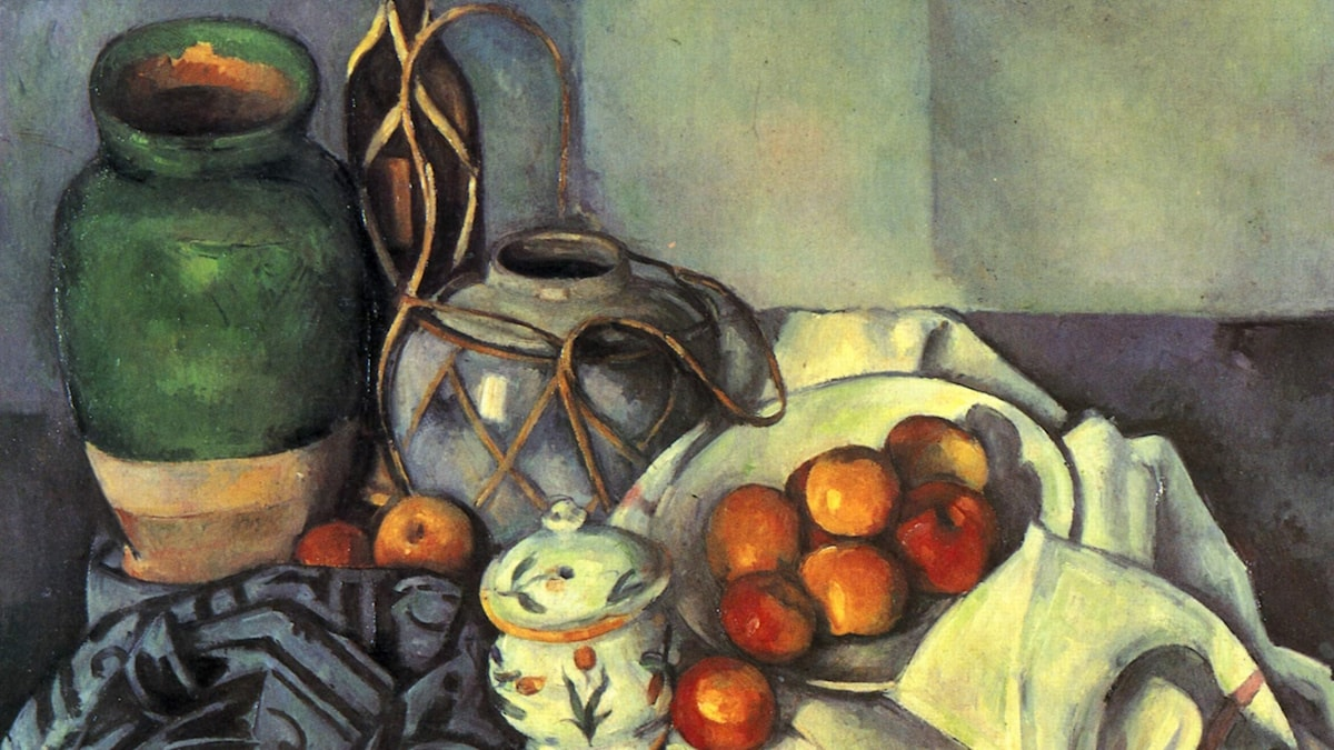 Stilleben med äpplen, Paul Cézanne