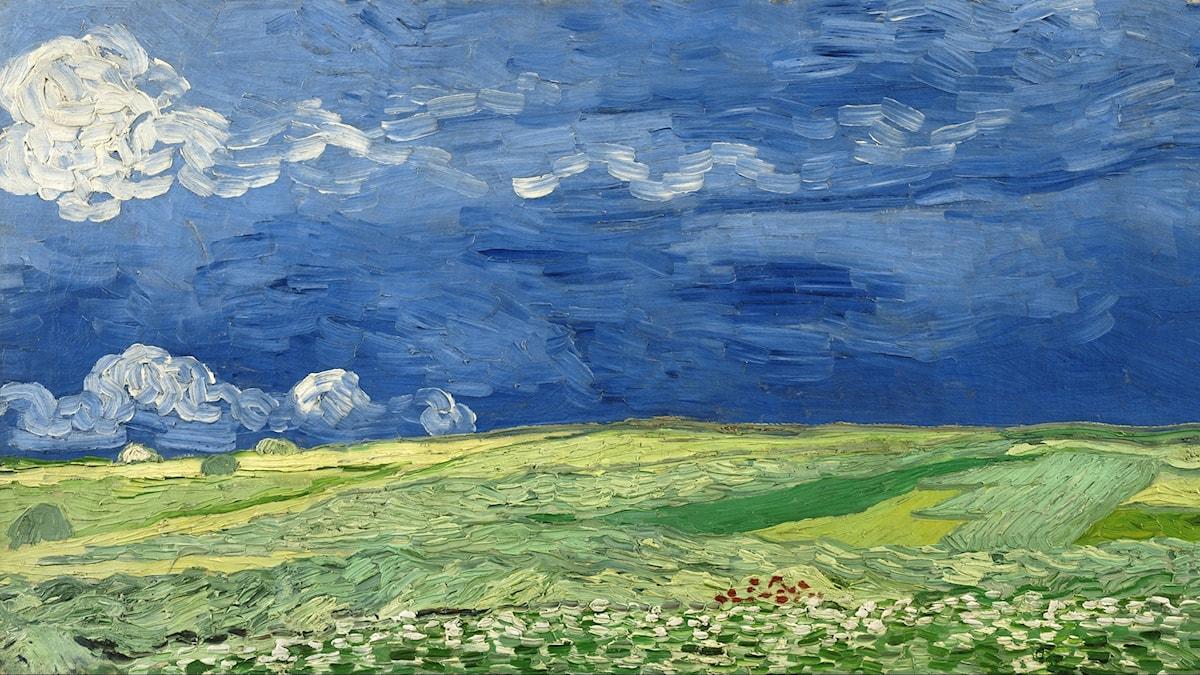 Wheatfield under thunderclouds av Vincent van Gogh