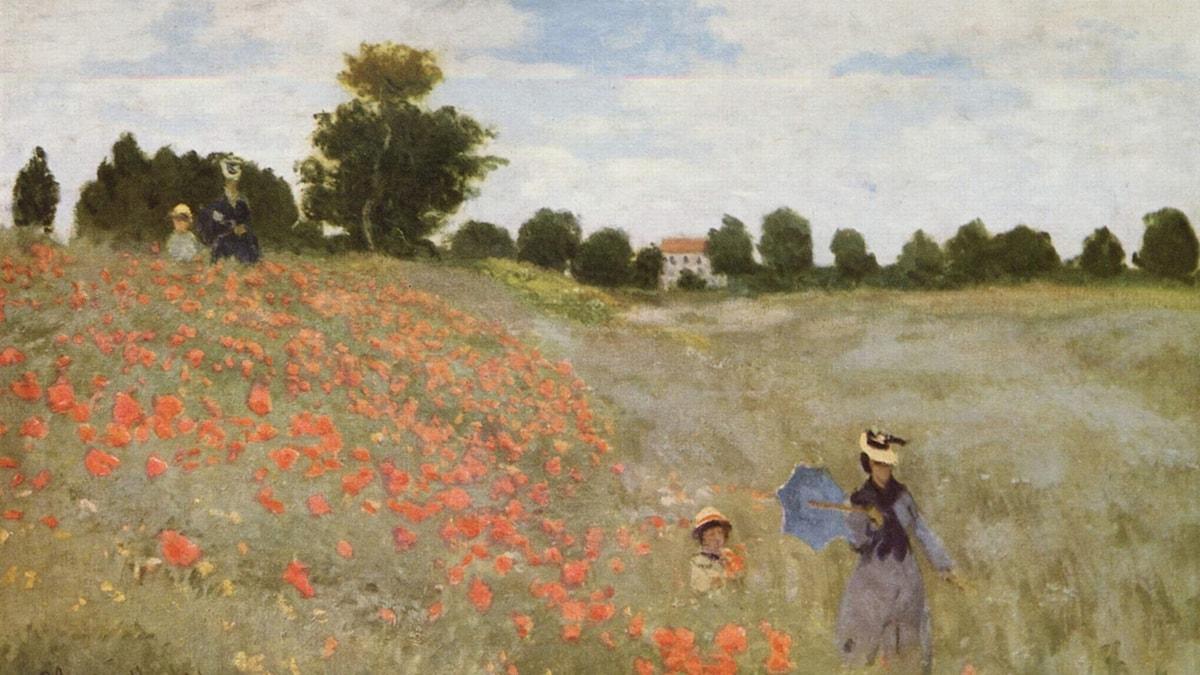 Coquelicots (La promenade) av Claude Monet
