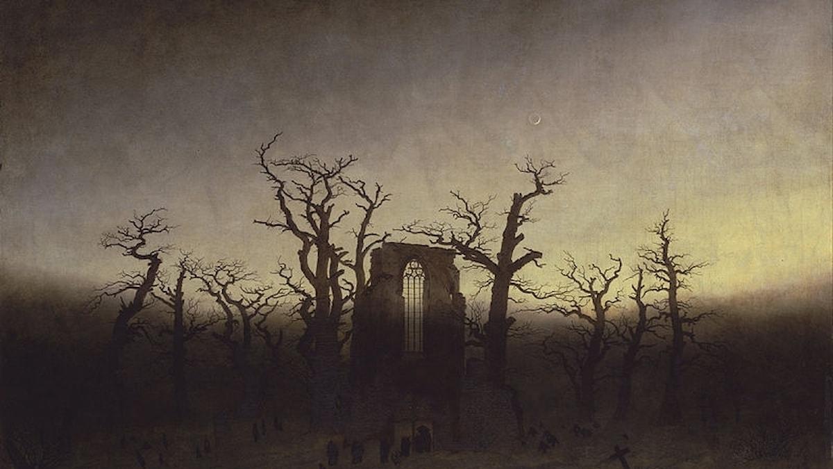 Abtei im Eichwald av Caspar David Friedrich