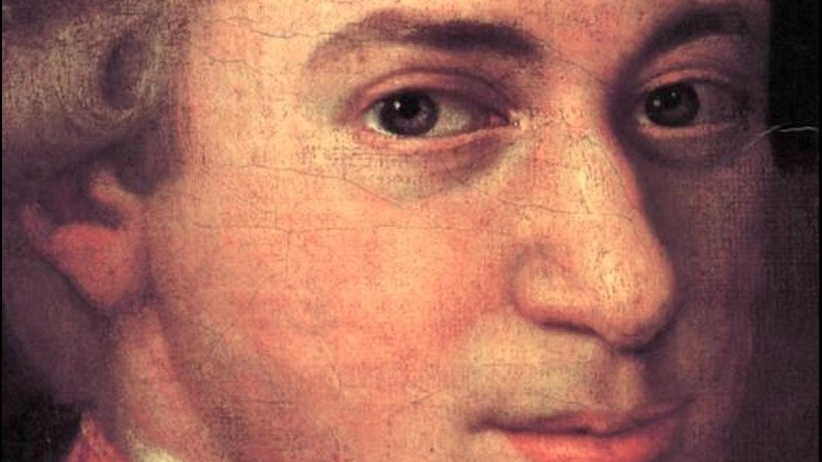 Mozart c. 1780, detalj från porträtt av Johann Nepomuk della Croce