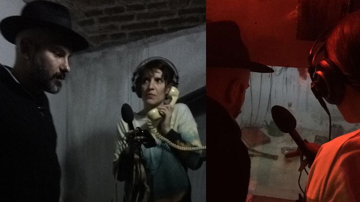 """Aaron Israelson och Nana Håkansson i ett """"escape room"""""""