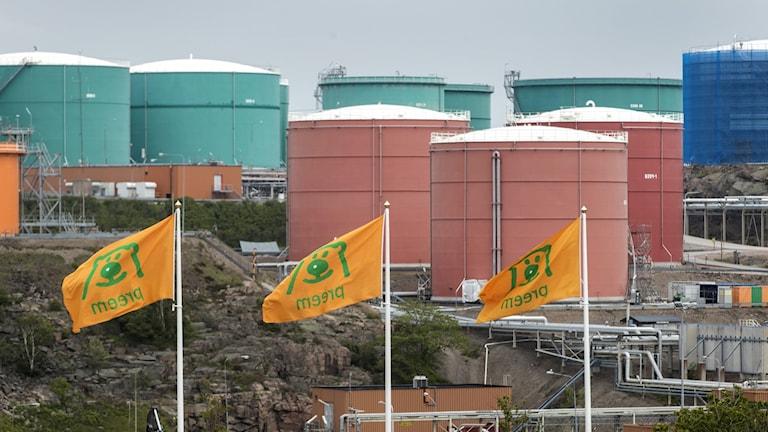 Oljeraffinaderiet Preemraff i Lysekil.