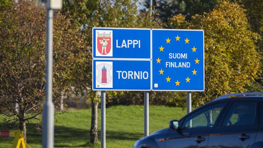 Gränsen mellan norra Sverige och norra Finland.