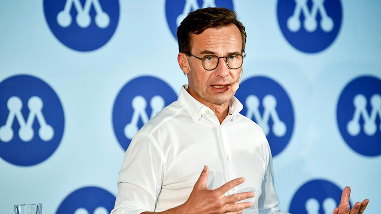 Moderaternas partiledare Ulf Kristersson i Almedalen.