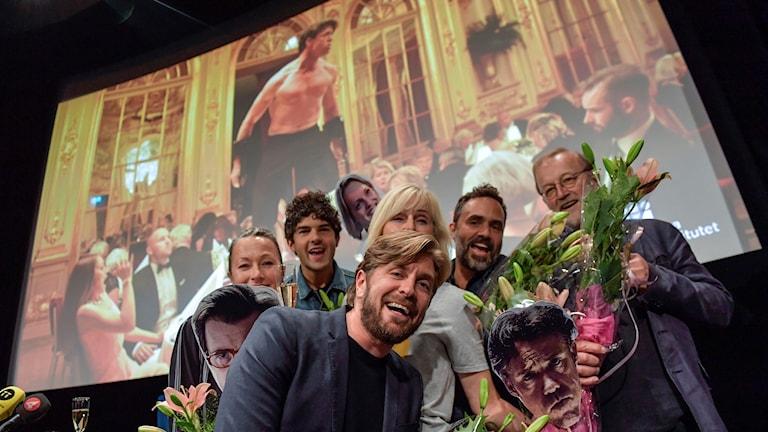 """Ruben Östlund på Filmhuset i Stockholm när hans film """"The Square"""" utses till svensk kandidat till en Oscarsnominering i kategorin bästa icke engelskspråkiga film."""