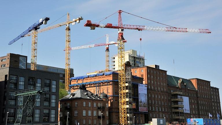 Riksbyggen bygger nya bostäder på Kvarnholmen vid inloppet till Stockholm.