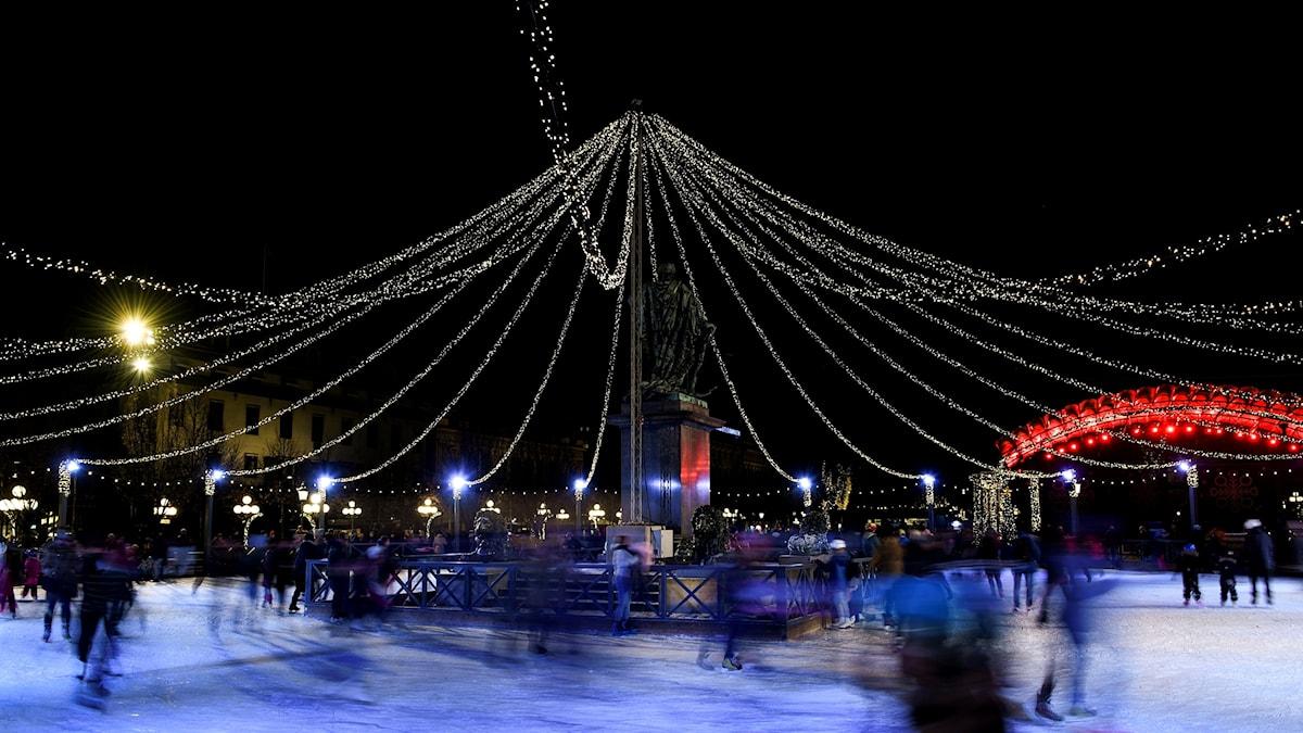 Julbelysning i Stockholm.
