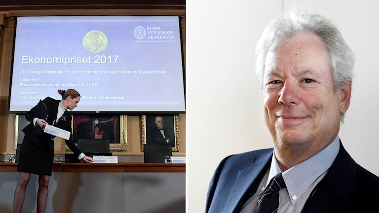 Professorn Richard H Thaler får årets Nobelpris i ekonomi.