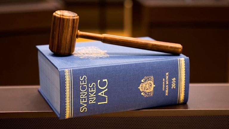 En lagbok ligger på ett bord. Foto: Henrik Montgomery/TT