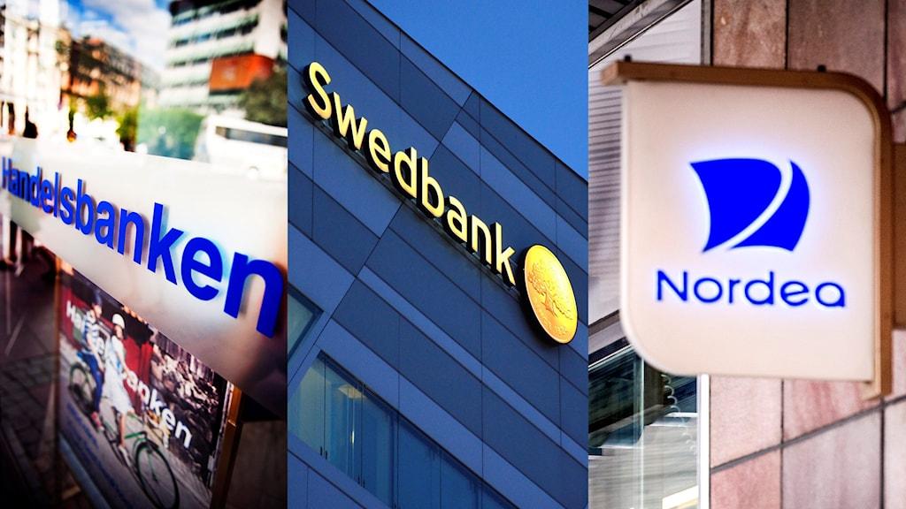 Handelsbanken, Swedbank och Nordea