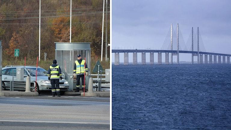 Gränskontroll på Öresundsbron.