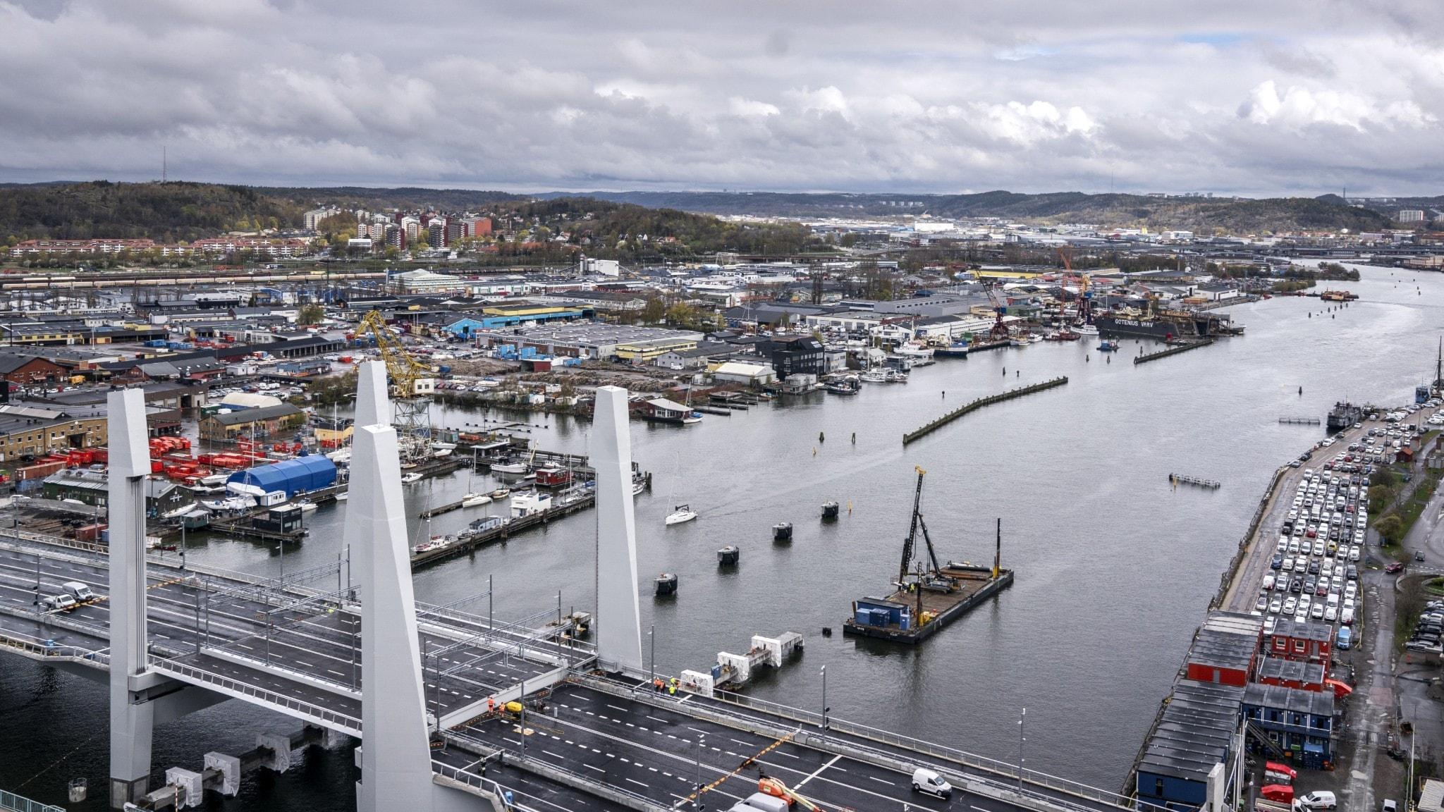 Bild på Hisingsbron i Göteborg