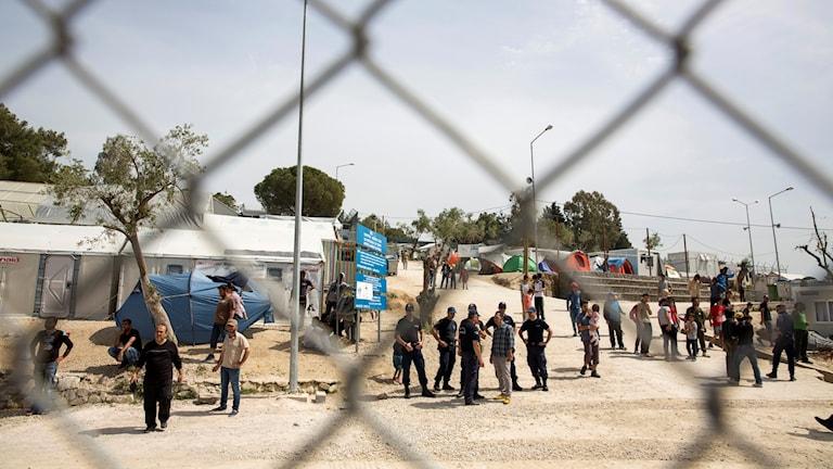 Flyktingläger på den grekiska ön Lessbos.