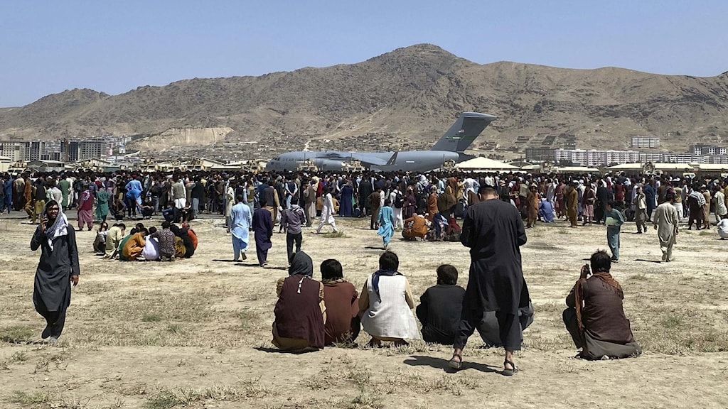 Flygplatsen i Kabul, Afghanistan.