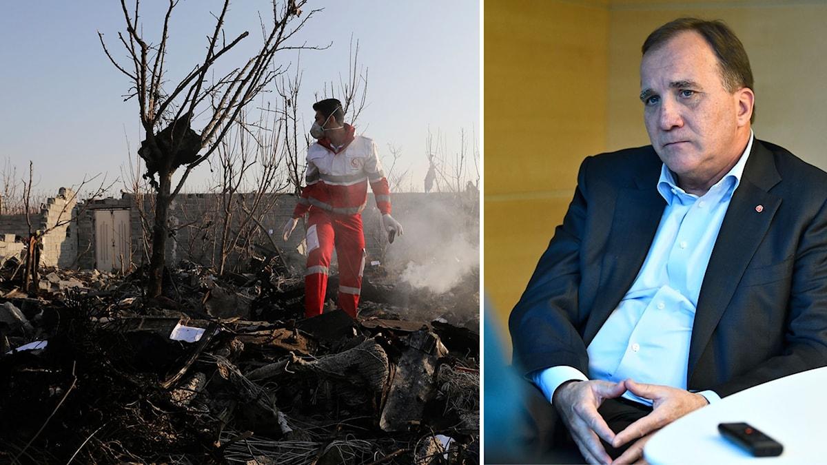 Statsminister Stefan Löfven kommenterar nu flygolyckan i Teheran.