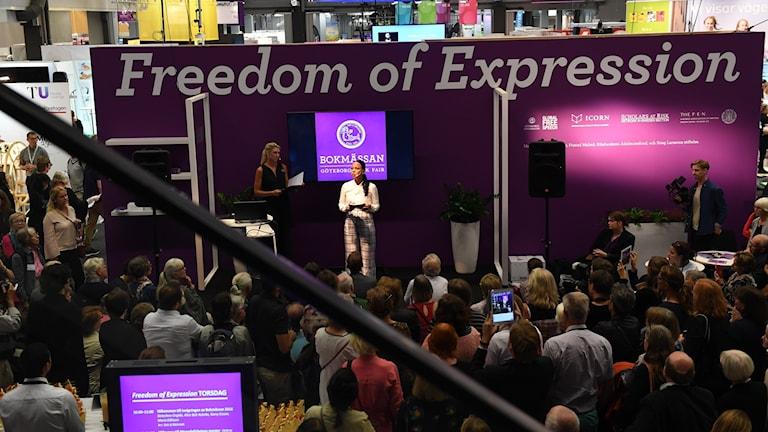 Temat för årets bokmässa är friheten att uttrycka sig.