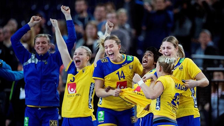 Sveriges landslag i handboll. Foto: Liselotte Sabroe / TT