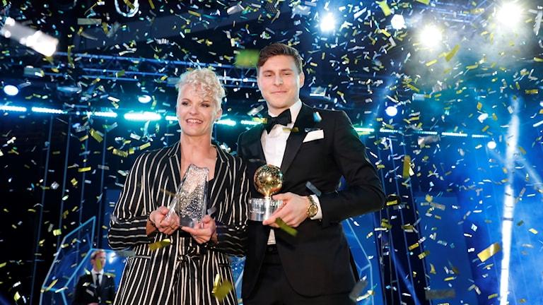 Nilla Fischer och Victor Nilsson Lindelöf är Sveriges bästa fotbollsspelare i år.