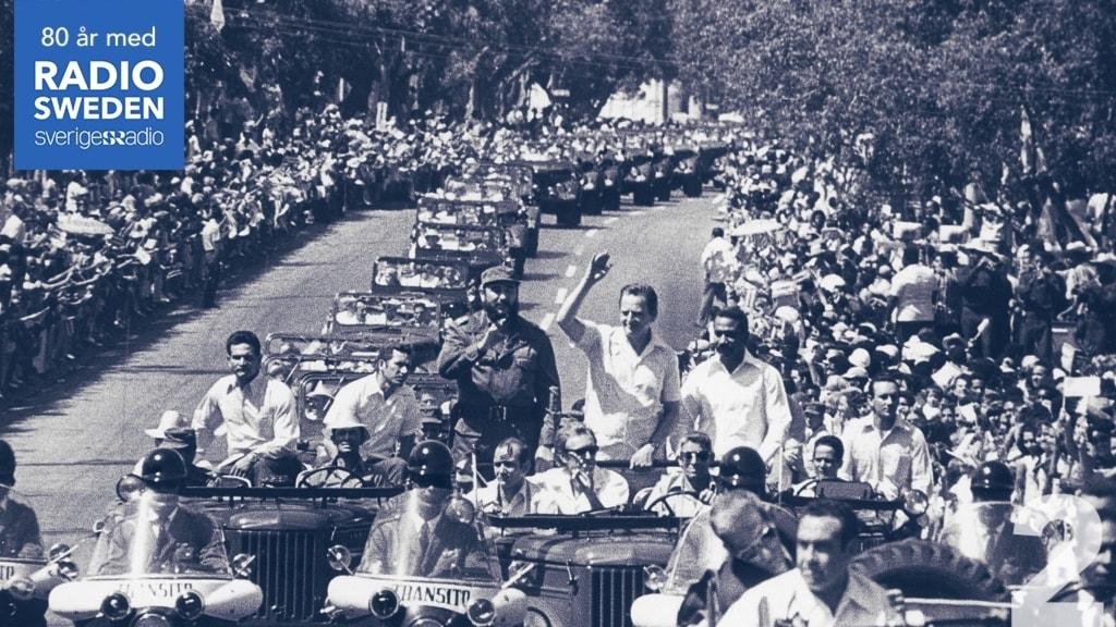 Arkivbild på Olof Palme och Fidel Castro