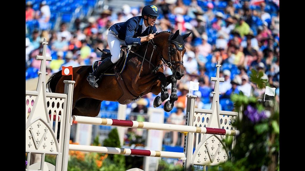 Henrik von Eckermann på hästen Mary Lou.