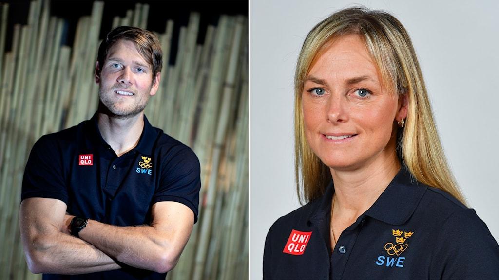 Max Salminen och Sara Algotsson blir fanbärare för Sverige i OS i Tokyo.