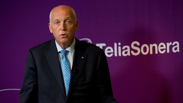 Den förra högste chefen för Telia, Lars Nyberg, åtalas för mutbrott.