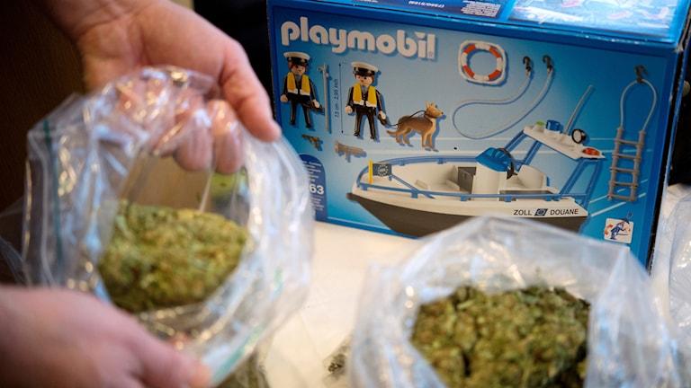 Droger som polisen har hittat i Stockholm.