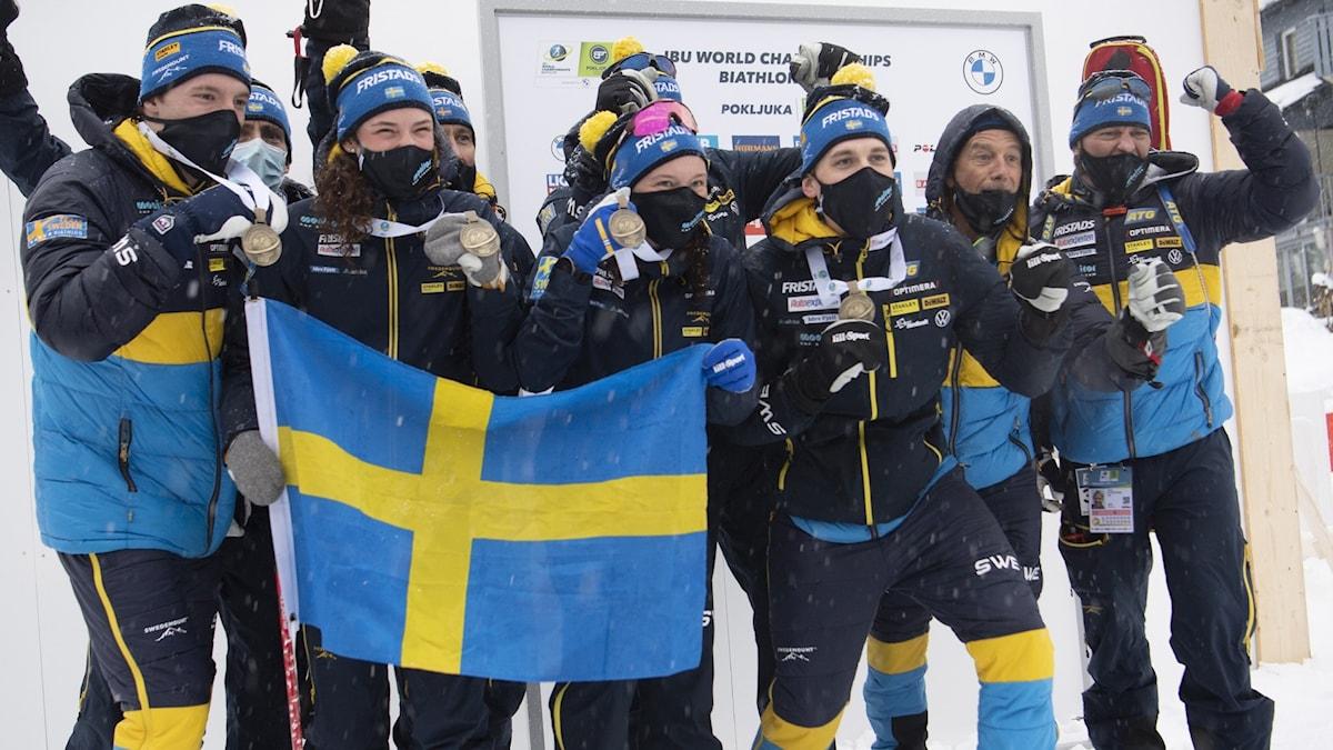 Sverige tog sex medaljer vid skidskytte-VM
