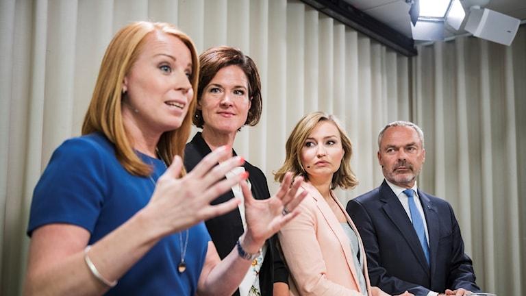 Alliansens partiledare. Foto: Vilhelm Stokstad/TT