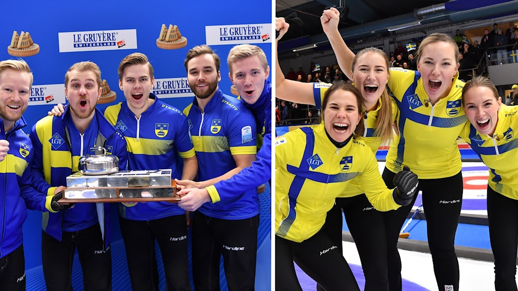 Både Sveriges herrar och Sveriges damer vann guld i EM i curling.