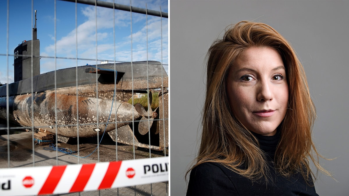 The submarine and Kim Wall.