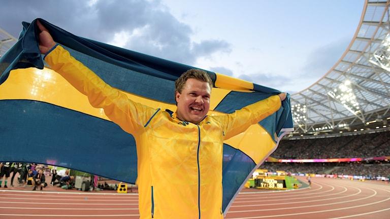 Diskuskastaren Daniel Ståhl kom tvåa på VM.