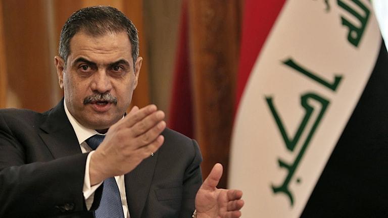 Iraks försvarsminister Najah al-Shammari