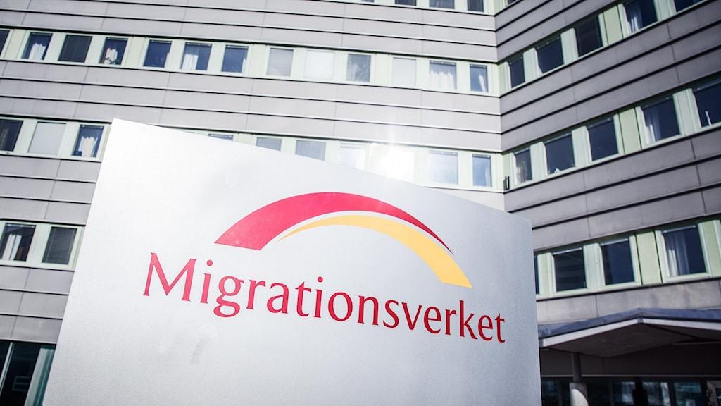 En skylt utanför Migrationsverket