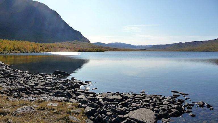 Abisko nationalpark i landskapet Lappland i norra Sverige.