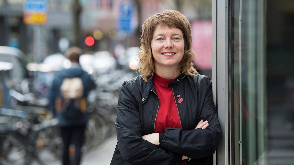 Malin Björk, kandidat för Vänsterpartiet till EU-valet.