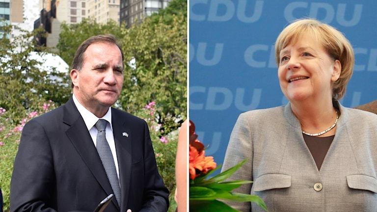 Stefan Löfven och Angela Merkel