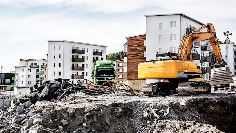 Bostäder byggs. Foto: Tomas Oneborg/TT