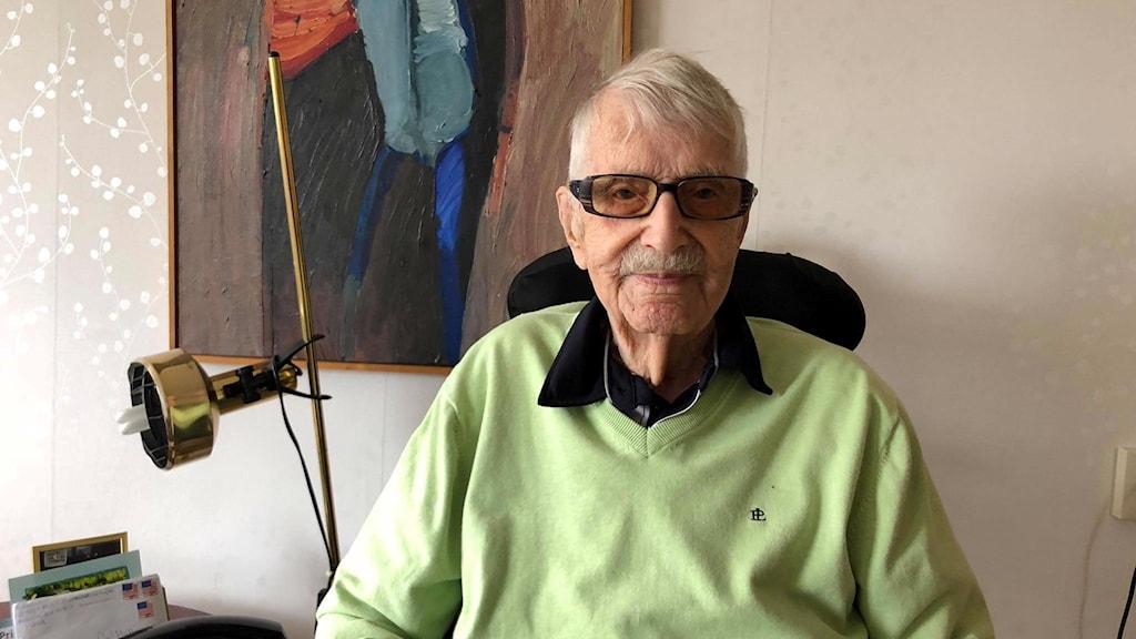 Sveriges äldsta man någonsin, Carl Mattsson.