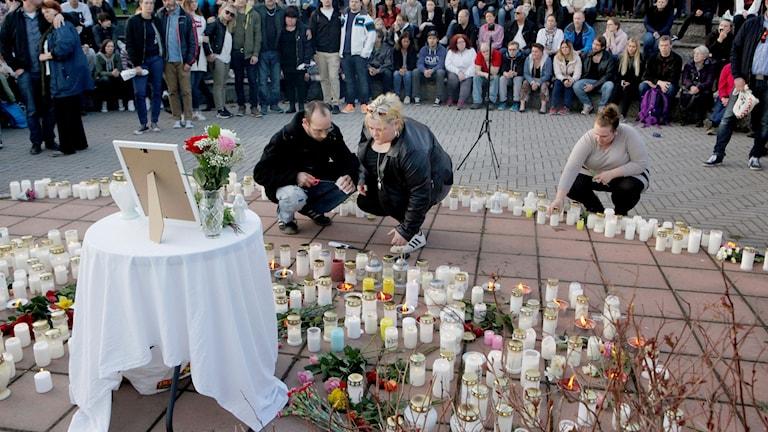 I maj var det en minnesstund för den dödade tjejen.