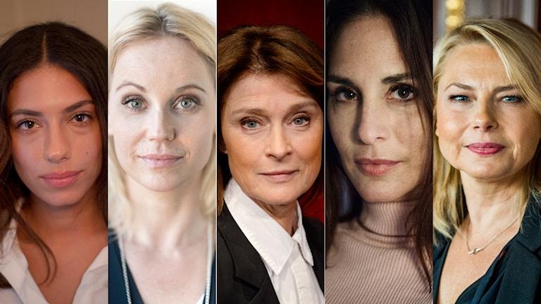 Evin Ahmad, Sofia Helin, Lena Endre, Alexandra Rapaport och Helena Bergström är några av skådespelarna som har skrivit under texten.